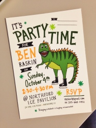 4 Year Old Birthday Invitation
